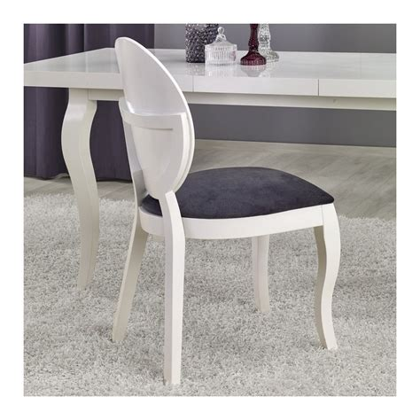 Chaise Medaillon Blanche by Chaise M 233 Daillon Moderne Blanche Et Gris Vilta So Inside