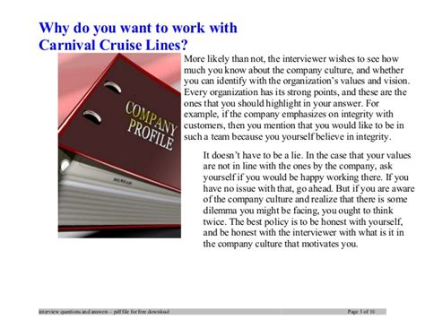 Why You Want To Do Mba Best Answer by Carnival Cruise Lines Questions And Answers