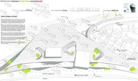 concept design urban gallery of beton hala waterfront proposal architektur