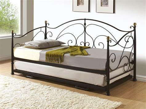 Handmade Iron Beds - decor handmade iron day beds with trundle for classic