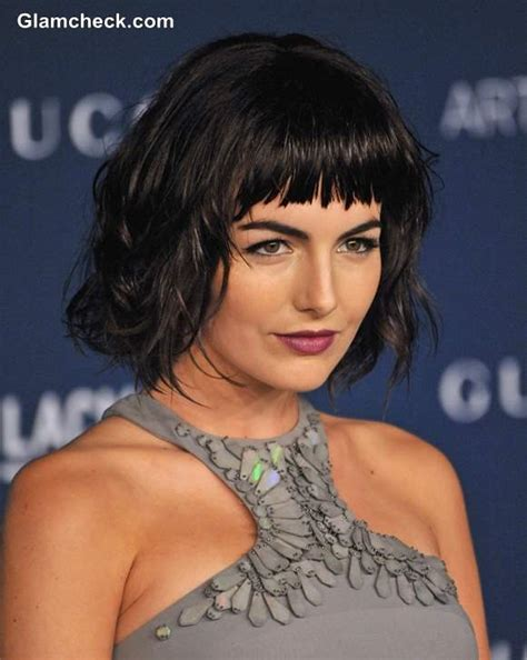 hairstyles with messy bangs camilla belle s choppy bangs and messy bob hairstyle