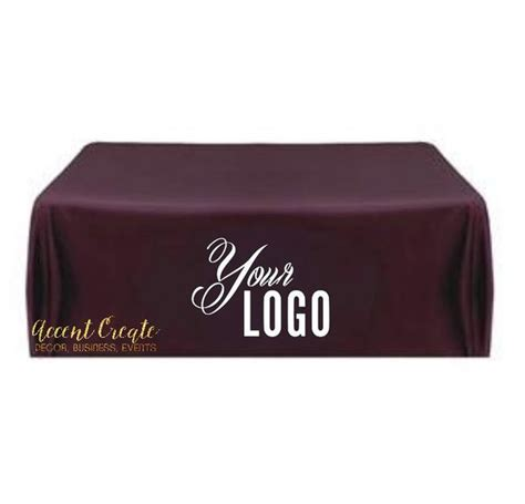 8 ft table cloth with logo 8ft custom tablecloth personalized table cloth direct