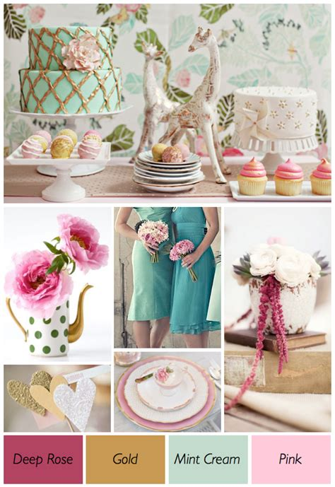 pink and green wedding theme weddings by lilly
