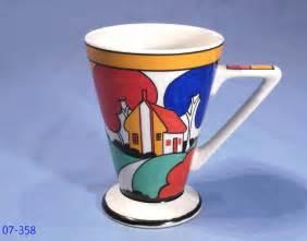 The Art Of Chokin Vase Sadler Art Deco Clarice Cliff Style Mug Collectable China
