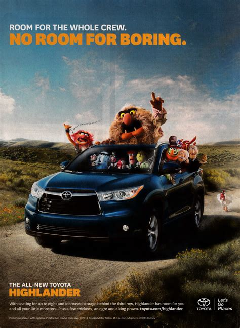 Toyota Ad Muppetshenson Muppets Toyota Print Ad In Entertainment Weekly
