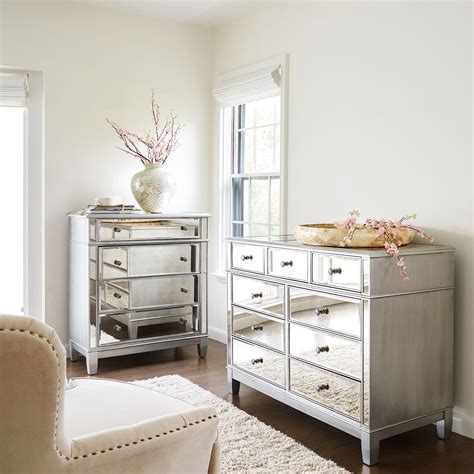 pier bedroom furniture furniture mirrored night stands tall mirrored dresser
