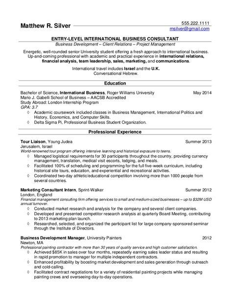 resume sles for college students and recent grads