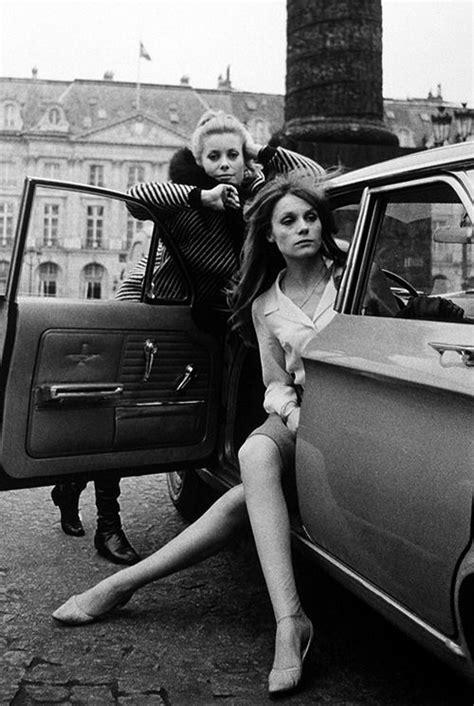 Catherine Deneuve and Françoise Dorléac in Paris, 1965
