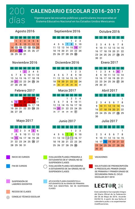calendario para el ciclo escolar 2016 2017 sep calendario escolar 2016 2017 conocelo a detalle sep de