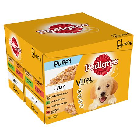 puppy food   pedigree puppy pouch meat selection in jelly