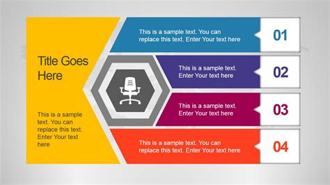 Unique Office Slide Design With Hexagon Shape Slidemodel Corporate Slide Design