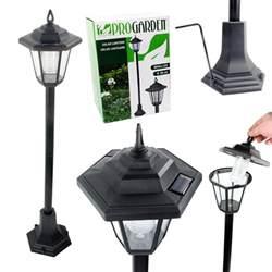 Solar Powered Post Lights by Solar Powered Garden Lights Lantern L Black Led Pathway