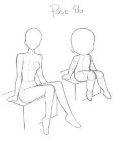 Anime Sitting Outline by Pose 1 By Revanrek On Deviantart