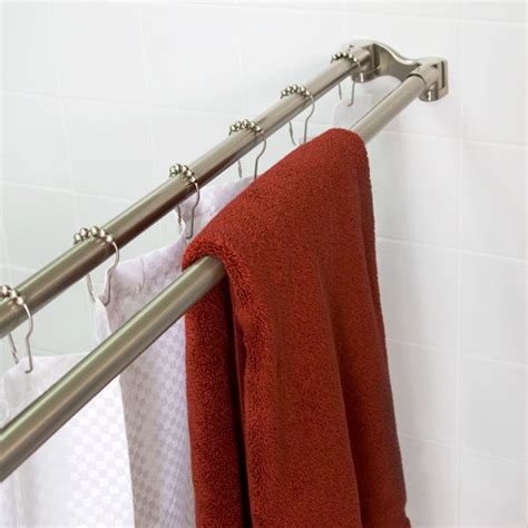 Double Shower Rod Eclectic Shower Curtain Rods New