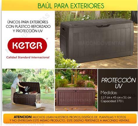 deposito jardin baul plastico armario exterior caja deposito jardin balcon