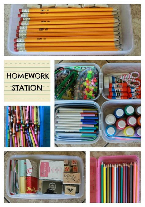 homework station ideas 8 awesome back to school organization ideas my craftily