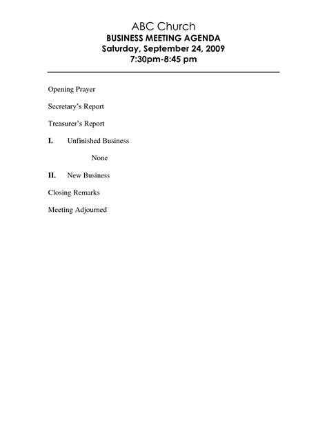 Business Meeting Agenda Template Helloalive Church Meeting Minutes Template
