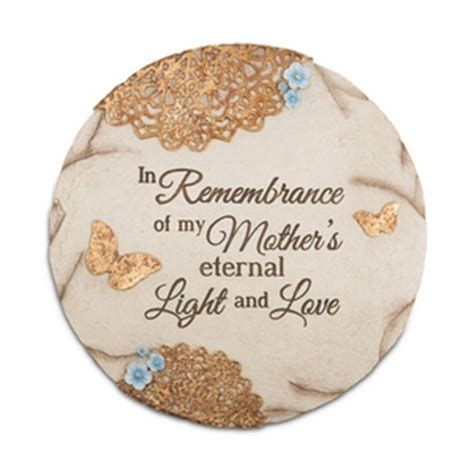 sympathy gift stone loss of mother