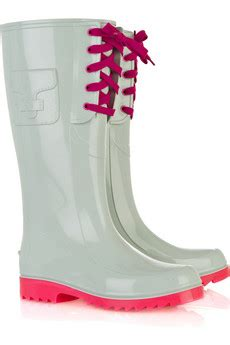 10 Cutest Boots by See Lace Up Rubber Wellington Boots 10 Cutest