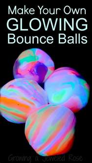 Cool At Home Crafts by Homemade Bouncy Balls That Glow Growing A Jeweled Rose