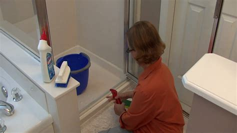 How To Clean Sliding Shower Doors Bathroom Cleaning Tips How To Clean Shower Door Tracks