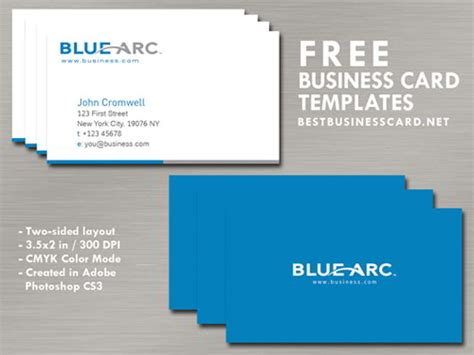 blue card template 30 elegantly designed free business card templates