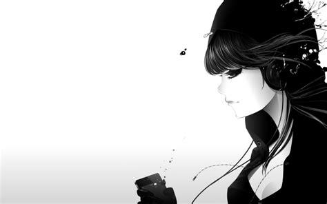 wallpaper girl headphones music headphones girl monochrome artwork white background