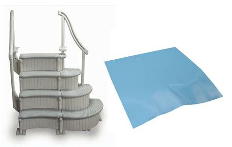 Above Ground Pool Ladder Mat - confer 4 step above ground swimming pool curved grand