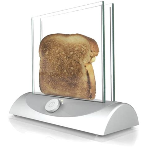 Clear Glass Toaster transparent toaster gives you clear view of bread s crispiness