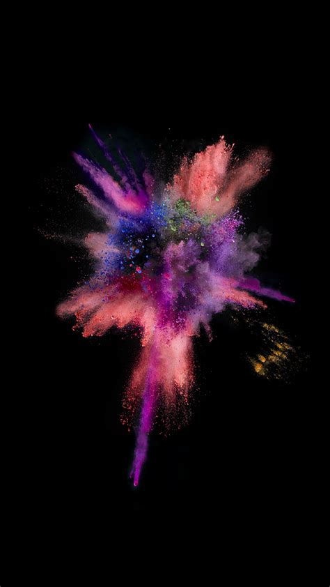 wallpaper for iphone 5 smoke ios9 colorful explosion smoke dark iphone 6 wallpaper