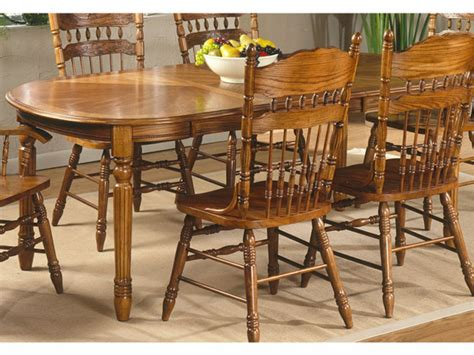 oak dining room set oak dining room set