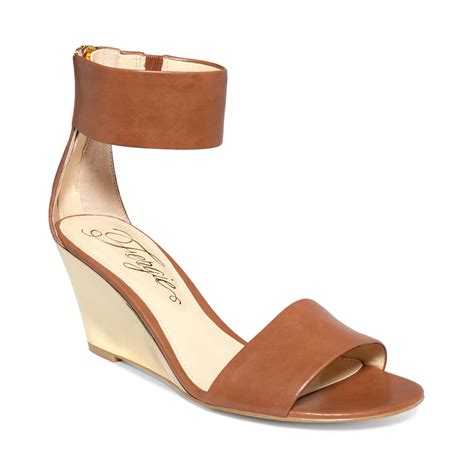 fergie fizz two wedges in brown camel lyst