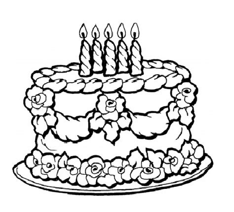 free coloring page of a cake get this birthday cake coloring pages free printable 9466