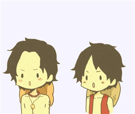 imagenes kawaii de luffy one piece ace gif find share on giphy