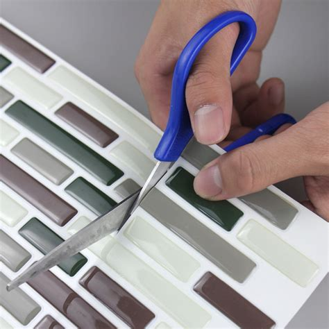 Peel And Stick Vinyl Tile Backsplash 3d Adhesive Faux Tile Vinyl Peel And Stick Tiles Subway
