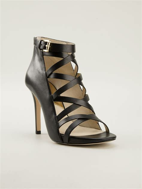 michael kors shoes michael michael kors theodore sandals in black lyst