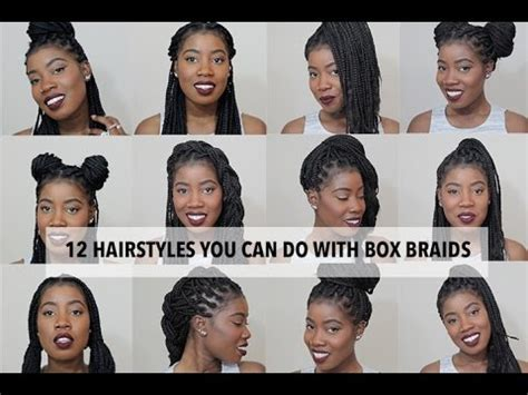 easy hairstyles you can do with one hand 12 easy hairstyles you can do with box braids youtube