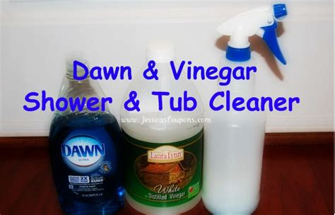 vinegar bathtub cleaner dawn vinegar tub and shower cleaner