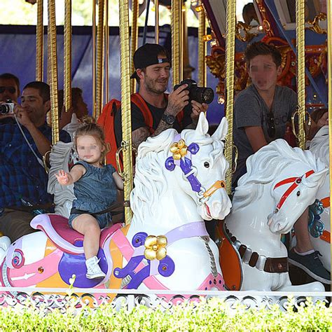 Beckhams Hit Disneyland by The Cutest Beckham Picture Yet As The Beckham