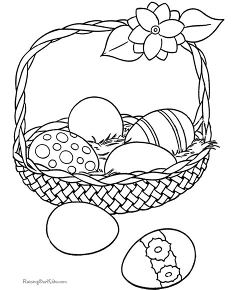coloring page of an easter basket easter coloring pages coloring pages to print