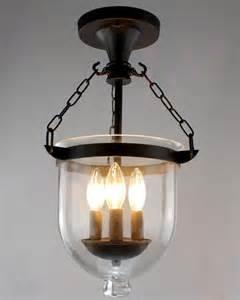 Bell Jar Chandeliers Arabella Antique Copper Bell Jar Glass Lantern Chandelier