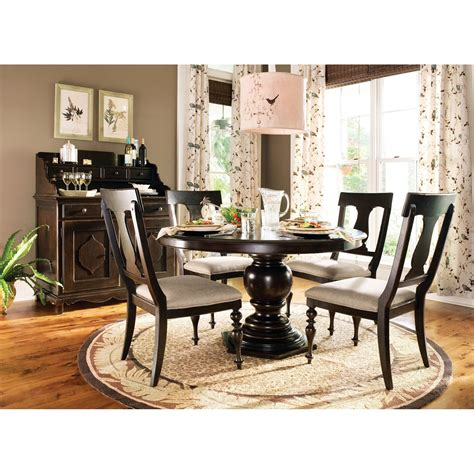 Paula Deen Kitchen Table Paula Deen Home Casual Pedestal Dining Table Set With 18 Quot Leaf Take 10 Today The Simple
