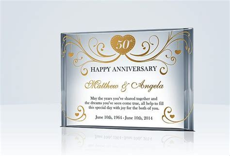 Happy 50th Anniversary Gift for Couple/Parents   Wedding