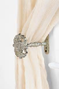 Curtain Tie Back Pins Fleur Curtain Tie Back