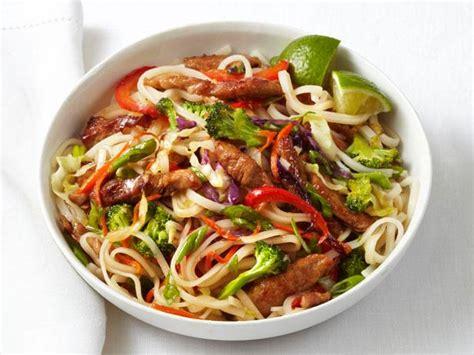 best wok for stir fry pork and noodle stir fry recipe food network kitchen