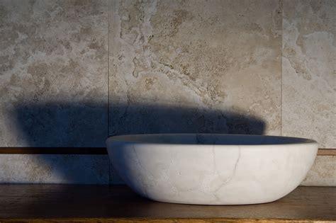 lavandino pietra bagno lavandino ovale in pietra beige chiaro da appoggio modello