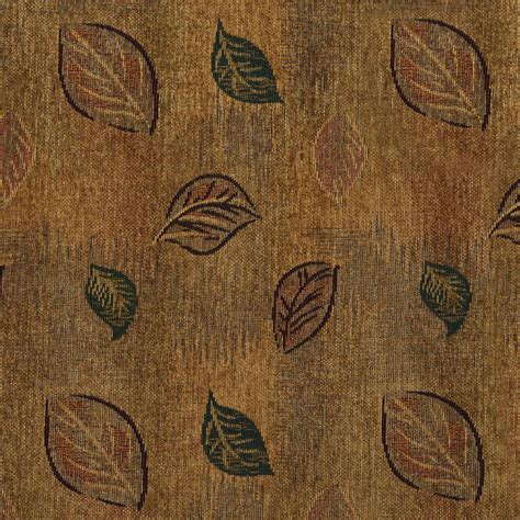 leaf pattern upholstery fabric beige green and coral fall leaf pattern chenille