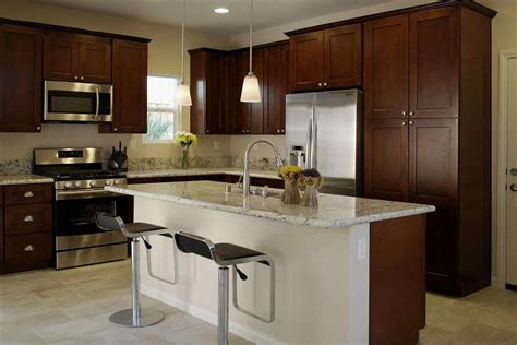 brown kitchen appliances dark brown kitchen cabinets with stainless steel