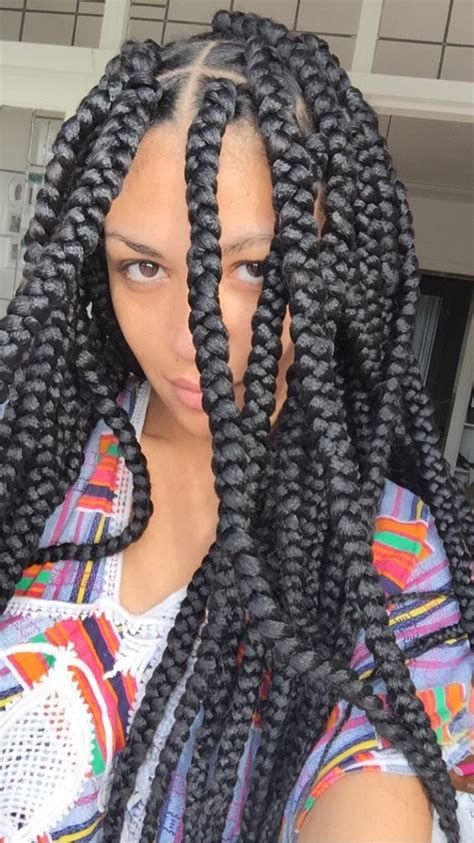 jumbo braids i like the size of these haircation jumbo single braids hairstyles jumbo box braids braids