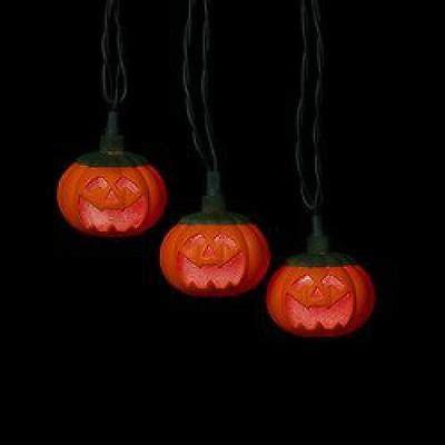 kurt adler lights kurt adler 10 light pumpkin led string light set ul0728